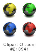Globe Clipart #213941 by stockillustrations