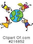 Royalty-Free (RF) Globe Clipart Illustration #216852