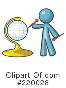 Globe Clipart #220028 by Leo Blanchette