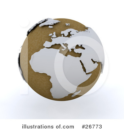 Royalty-Free (RF) Globe Clipart Illustration by KJ Pargeter - Stock Sample #26773