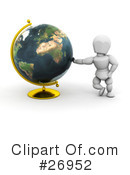 Globe Clipart #26952 by KJ Pargeter
