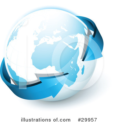Royalty-Free (RF) Globe Clipart Illustration by beboy - Stock Sample #29957