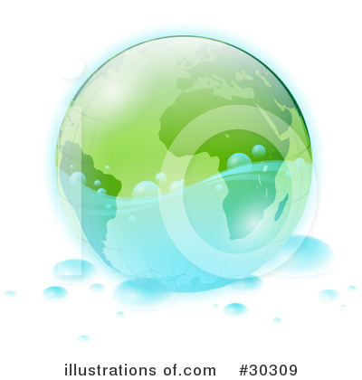 Royalty-Free (RF) Globe Clipart Illustration by beboy - Stock Sample #30309