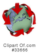 Globe Clipart #33666 by KJ Pargeter