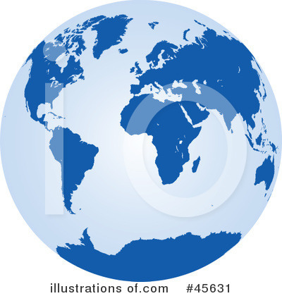 Globe Clipart #45631 by Michael Schmeling