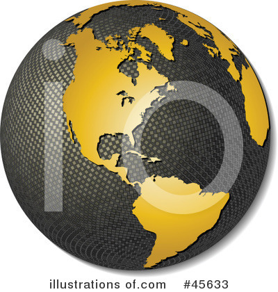 Royalty-Free (RF) Globe Clipart Illustration by Michael Schmeling - Stock Sample #45633