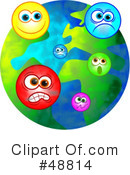 Royalty-Free (RF) Globe Clipart Illustration #48814