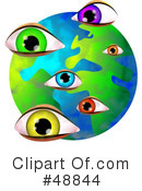 Royalty-Free (RF) Globe Clipart Illustration #48844