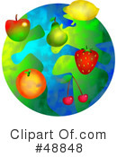 Royalty-Free (RF) Globe Clipart Illustration #48848