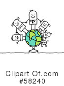 Royalty-Free (RF) Globe Clipart Illustration #58240