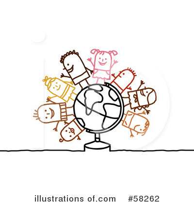 Royalty-Free (RF) Globe Clipart Illustration by NL shop - Stock Sample #58262