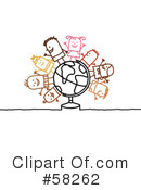 Royalty-Free (RF) Globe Clipart Illustration #58262