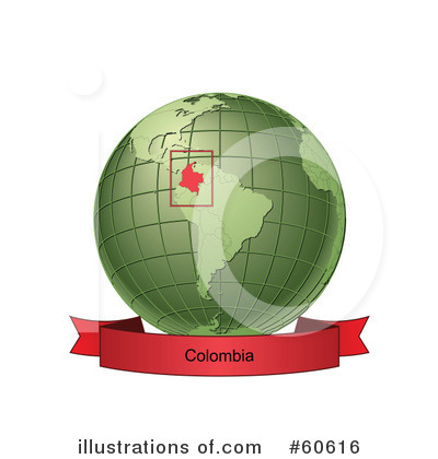 Royalty-Free (RF) Globe Clipart Illustration by Michael Schmeling - Stock Sample #60616