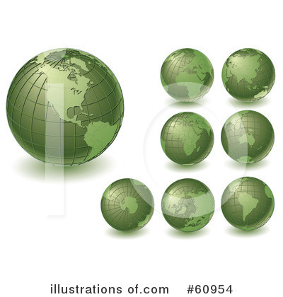 Globe Clipart #60954 by Michael Schmeling
