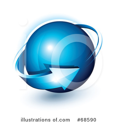 Royalty-Free (RF) Globe Clipart Illustration by beboy - Stock Sample #68590