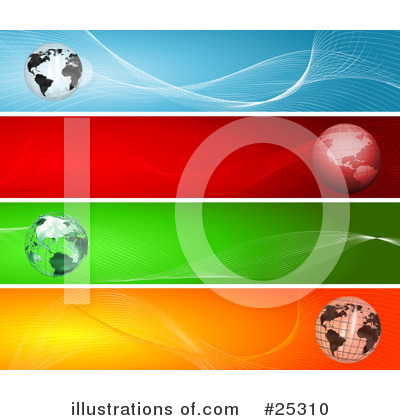 Royalty-Free (RF) Globes Clipart Illustration by KJ Pargeter - Stock Sample #25310