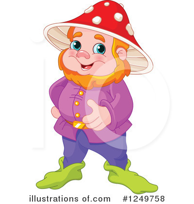 Royalty-Free (RF) Gnome Clipart Illustration by Pushkin - Stock Sample #1249758