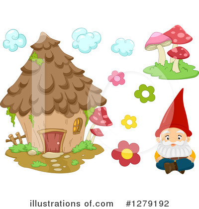Royalty-Free (RF) Gnome Clipart Illustration by BNP Design Studio - Stock Sample #1279192