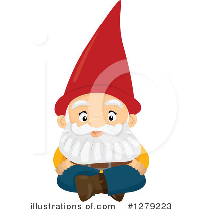 Royalty-Free (RF) Gnome Clipart Illustration by BNP Design Studio - Stock Sample #1279223