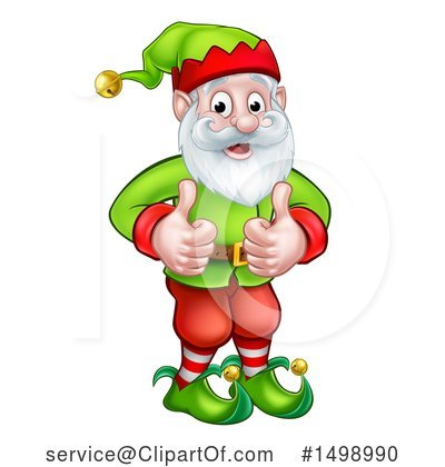 Christmas Elf Clipart #1498990 by AtStockIllustration