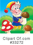 Royalty-Free (RF) Gnome Clipart Illustration #33272