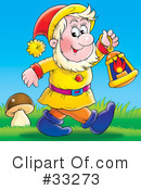 Royalty-Free (RF) Gnome Clipart Illustration #33273