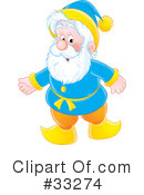 Royalty-Free (RF) Gnome Clipart Illustration #33274