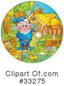 Royalty-Free (RF) Gnome Clipart Illustration #33275