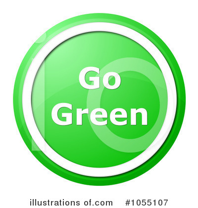 Royalty-Free (RF) Go Green Clipart Illustration by oboy - Stock Sample #1055107