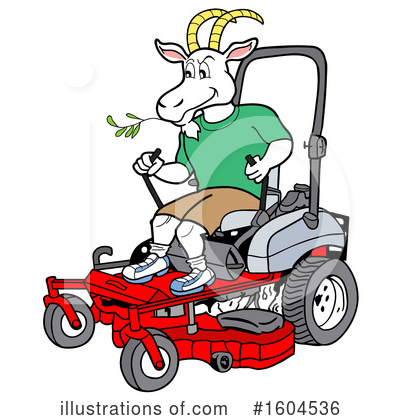 Royalty-Free (RF) Goat Clipart Illustration by LaffToon - Stock Sample #1604536
