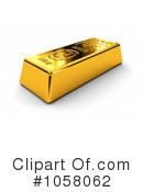 Gold Bar Clipart #1058062