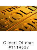 Royalty-Free (RF) Gold Bar Clipart Illustration #1114637