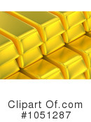 Royalty-Free (RF) Gold Bars Clipart Illustration #1051287
