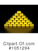Royalty-Free (RF) Gold Bars Clipart Illustration #1051294