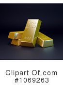 Gold Bars Clipart #1069263