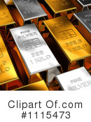 Royalty-Free (RF) Gold Bars Clipart Illustration #1115473