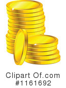 Royalty-Free (RF) Gold Coins Clipart Illustration #1161692