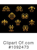 Royalty-Free (RF) Gold Design Elements Clipart Illustration #1092473