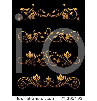 Royalty-Free (RF) Gold Design Elements Clipart Illustration by Vector Tradition SM - Stock Sample #1095193