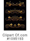 Gold Design Elements Clipart #1095193 by Vector Tradition SM