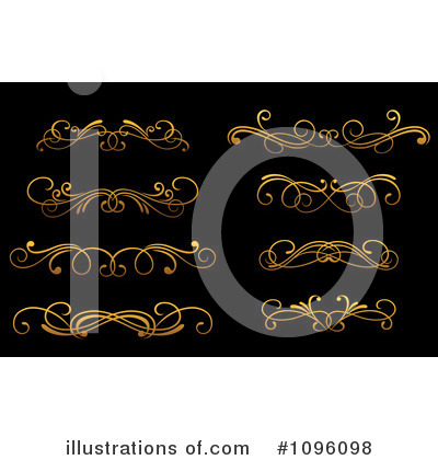 Gold Design Elements Clipart #1096098 by Vector Tradition SM