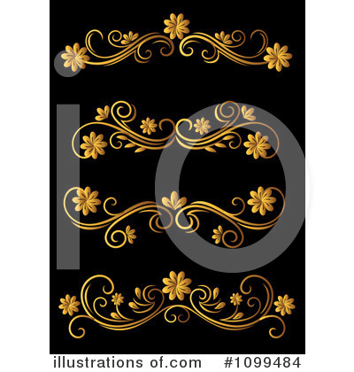 Gold Design Elements Clipart #1099484 by Vector Tradition SM