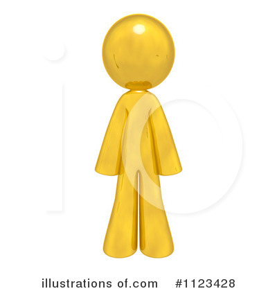 Royalty-Free (RF) Gold Man Clipart Illustration by Leo Blanchette - Stock Sample #1123428