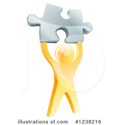 Puzzle Piece Clipart #1238216 by AtStockIllustration