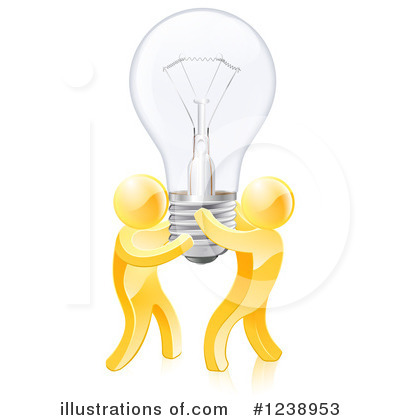 Gold Man Clipart #1238953 by AtStockIllustration