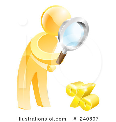 Royalty-Free (RF) Gold Man Clipart Illustration by AtStockIllustration - Stock Sample #1240897