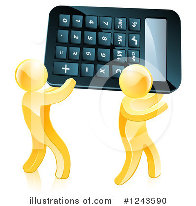 Calculator Clipart #1243590 by AtStockIllustration