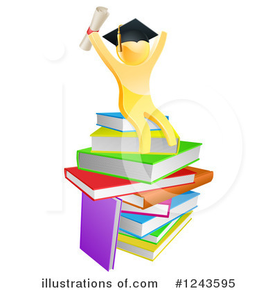 Books Clipart #1243595 by AtStockIllustration