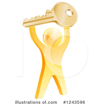 Key Clipart #1243596 by AtStockIllustration