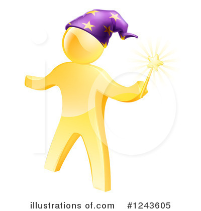 Wizard Clipart #1243605 by AtStockIllustration